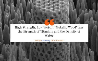 "High Strength, Low Weight ""Metallic Wood"" has the Strength of Titanium and the Density of Water"
